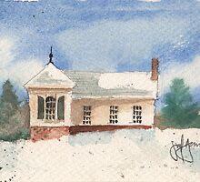 Winter House by JGFineArt