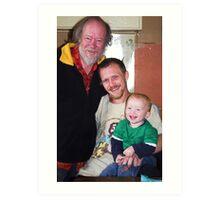 Portrait: Philip, Kieron and Dylan - Three Generations  Art Print