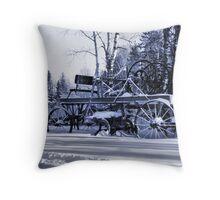 Bitter Cold Blue Throw Pillow