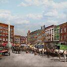 City - Norfolk Va - Hardware and Liquor - 1905 by Mike  Savad