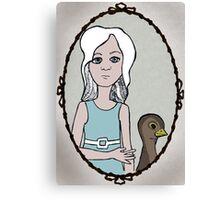Frock and Bird Canvas Print