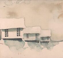 Little Houses by JGFineArt