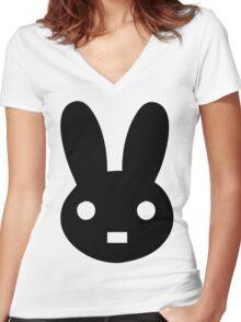 Rabbit lol Women's Fitted V-Neck T-Shirt