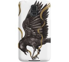 Breaking Point - Crow Falling with Gold Ribbon Samsung Galaxy Case/Skin