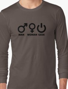 Man woman geek Long Sleeve T-Shirt
