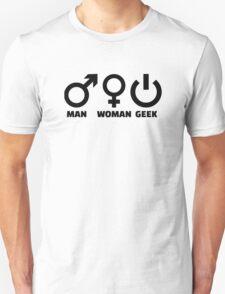 Man woman geek Unisex T-Shirt