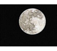 Fractal Moon Photographic Print