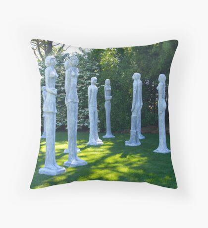 Garden Sculptures, New Zealand. Throw Pillow