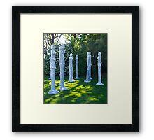 Garden Sculptures, New Zealand. Framed Print