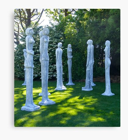Garden Sculptures, New Zealand. Canvas Print