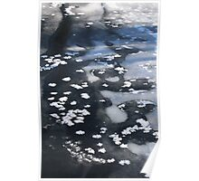 Snow on a Frozen River 1 Poster