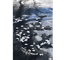 Snow on a Frozen River 1 Photographic Print