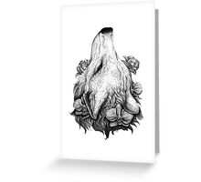 Outreach - Wolf with Orchids and Magnolias Greeting Card