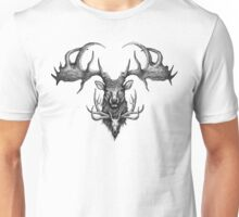 Graham's Ghost - Irish Elk and Elk Skull Unisex T-Shirt