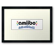 Amiibo - Gotta Catch 'em All Framed Print