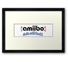 Amiibo - Gotta Catch 'em All Framed Print
