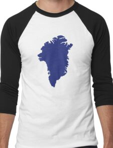 Greenland map Men's Baseball ¾ T-Shirt