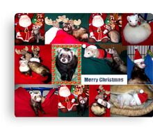 A Very Ferret Christmas  Canvas Print