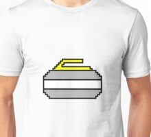 Pixel Art Curling Rock Unisex T-Shirt