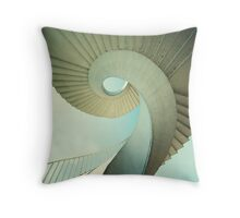 Spiral stairs in pastel tones Throw Pillow