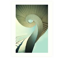 Spiral stairs in pastel tones Art Print