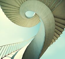 Spiral stairs in pastel tones by JBlaminsky