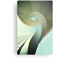 Spiral stairs in pastel tones Metal Print