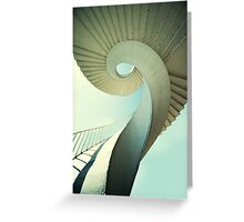 Spiral stairs in pastel tones Greeting Card