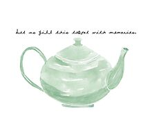 Teapot with Text by pickledbeets