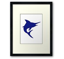 Blue Marlin Fish Framed Print