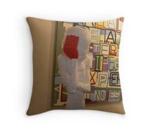 Oh not again............... Throw Pillow