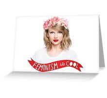 Taylor Swift-Feminism Greeting Card