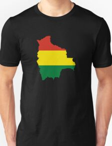 Flag Map of Bolivia  Unisex T-Shirt