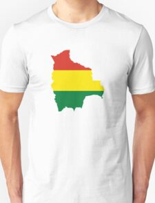Flag Map of Bolivia  Unisex T-Shirt