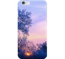 Winter Sunset, Brannon Mt. NW Arkansas, USA iPhone Case/Skin