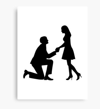Wedding Marriage Proposal Canvas Print