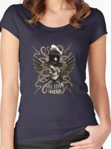 Full Steam Ahead!  Women's Fitted Scoop T-Shirt