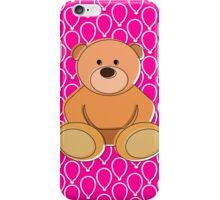 Pink Teddy Bear Design iPhone Case/Skin