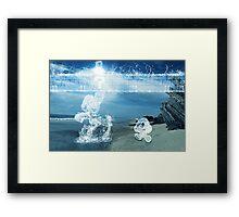 Water Mario Framed Print