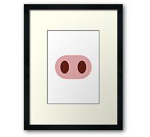 Pig Nose Twitter Emoji Framed Print