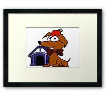 Dogtor Who Framed Print