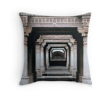 Adalaj Stepwell 1 Throw Pillow