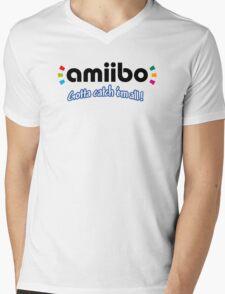 Amiibo - Gotta Catch 'em All Mens V-Neck T-Shirt