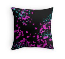 Pink Passion Swirling Hearts Throw Pillow