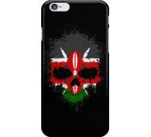 Chaotic Kenyan Flag Splatter Skull iPhone Case/Skin