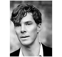 Benedict Cumberbatch black and white Photographic Print