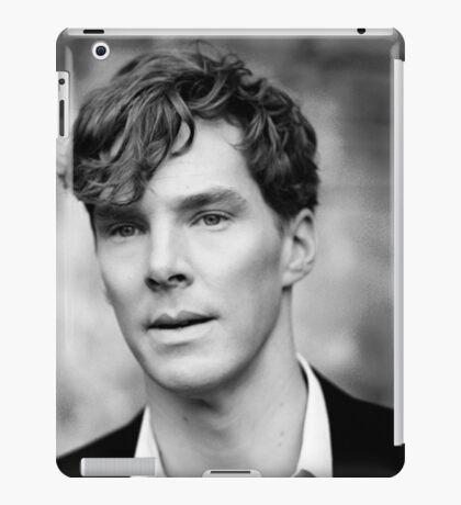 Benedict Cumberbatch black and white iPad Case/Skin