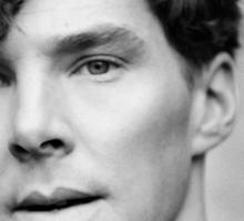 Benedict Cumberbatch black and white Sticker