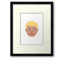 Person With Blond Hair Twitter Emoji Framed Print