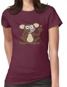 Crazy Monkey Tee (Fur) Womens Fitted T-Shirt